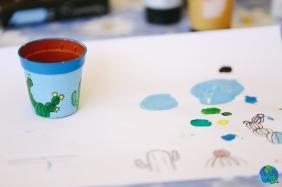 La práctica en papel y la pintura