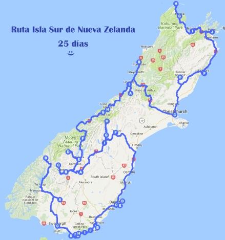 RUTA NZ SUR