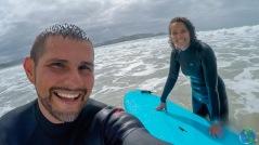 Hicimos surf por primera vez